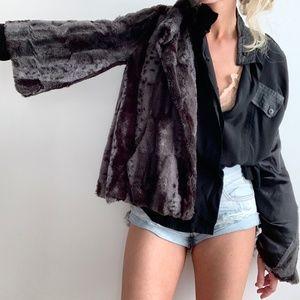 🛍 Vintage Fur Boxy Jacket Coat